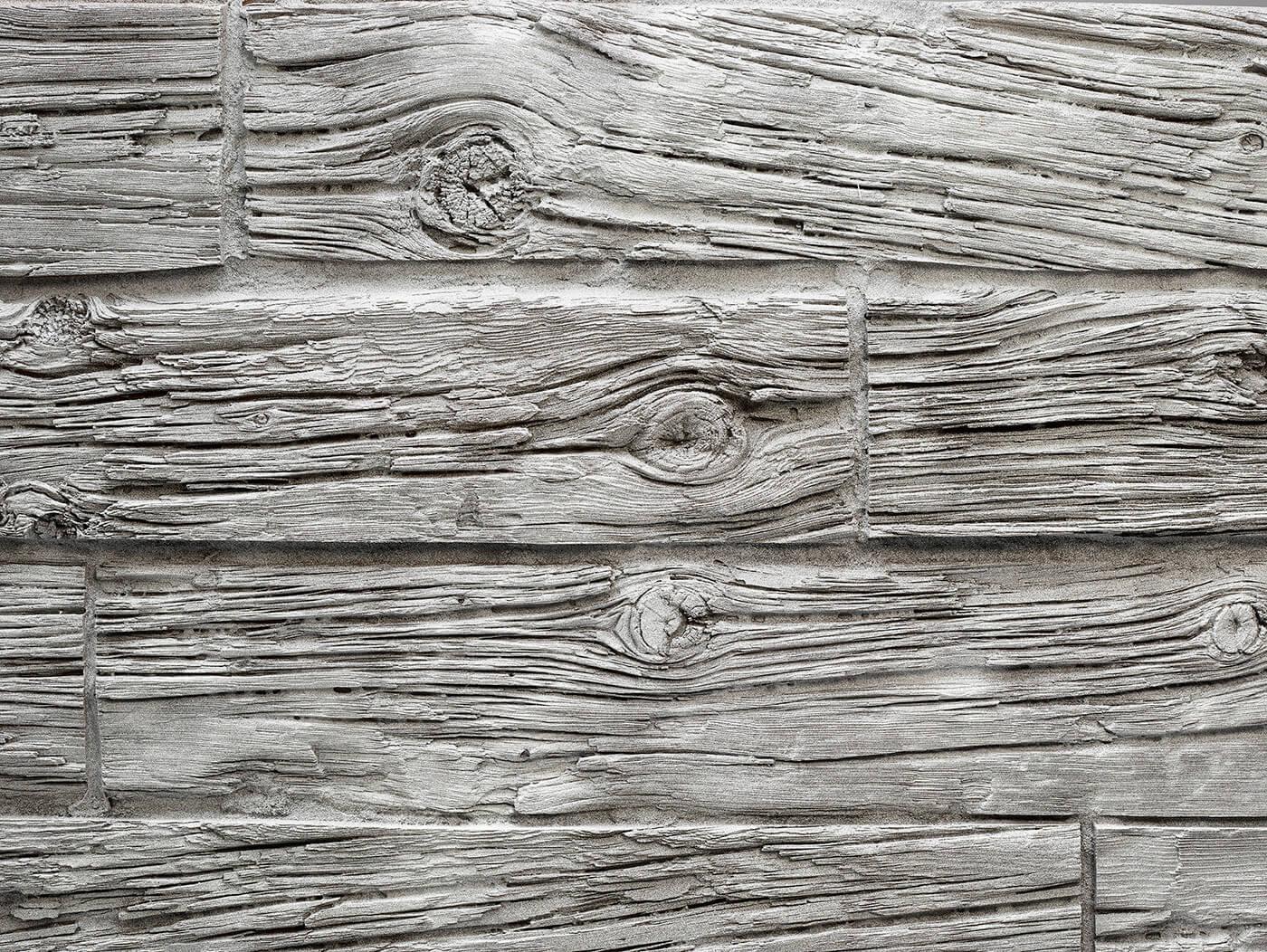 Horizontal Wooden Sleepers #White