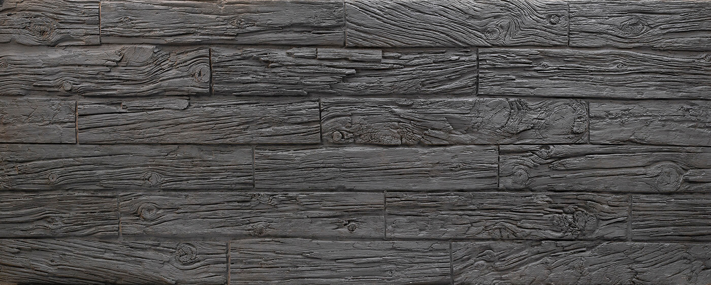 Horizontal Wooden Sleepers #Black