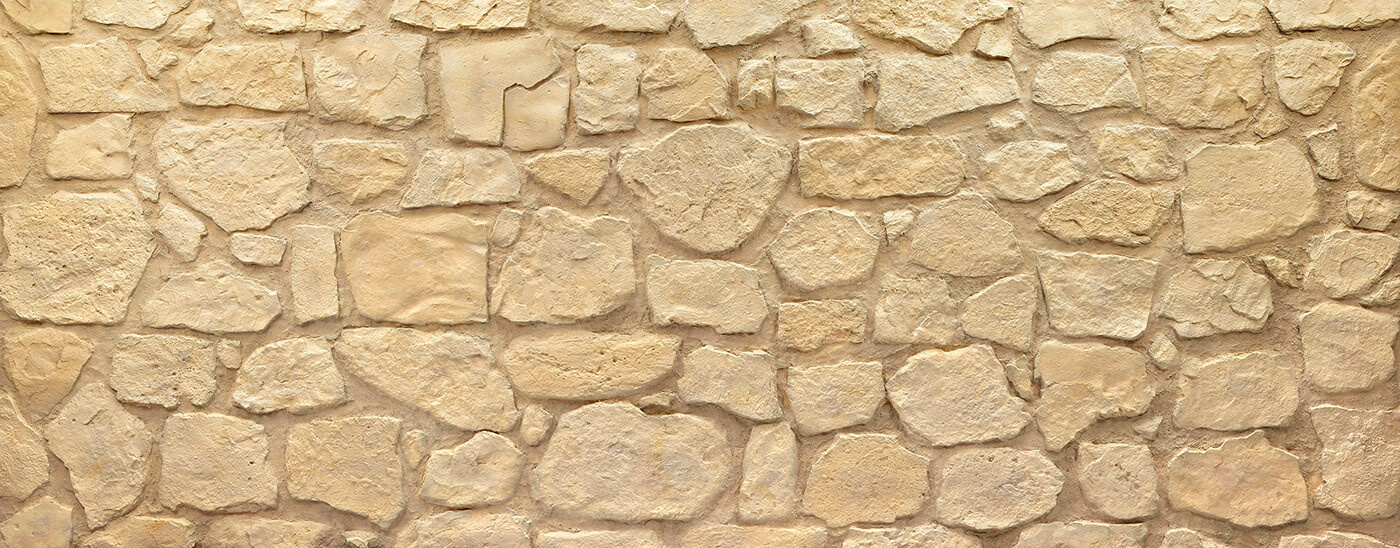 Piedra Mampostería Vieja #blanca castellana junta gris