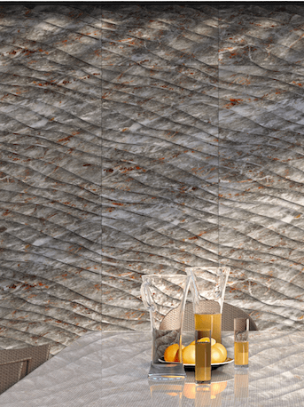 Terraces with decorative 3D wall panels