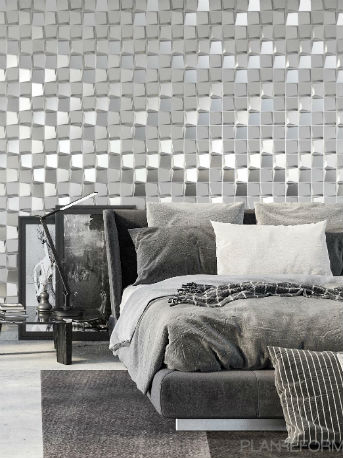 Bedrooms of the future with 3D wall panels