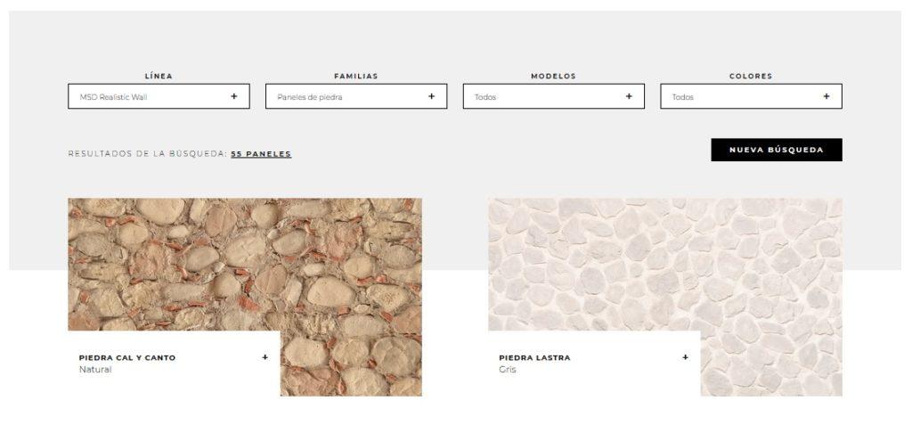 paneles de piedra para fachadas exteriores