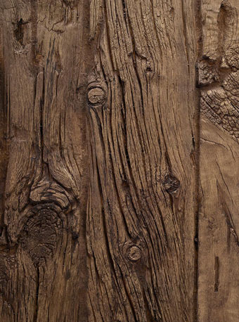 How long can faux wood panels be exposed to weather?