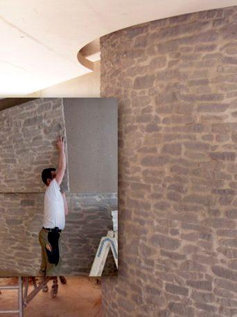 Paneles flexibles para decorar curvas y bóvedas