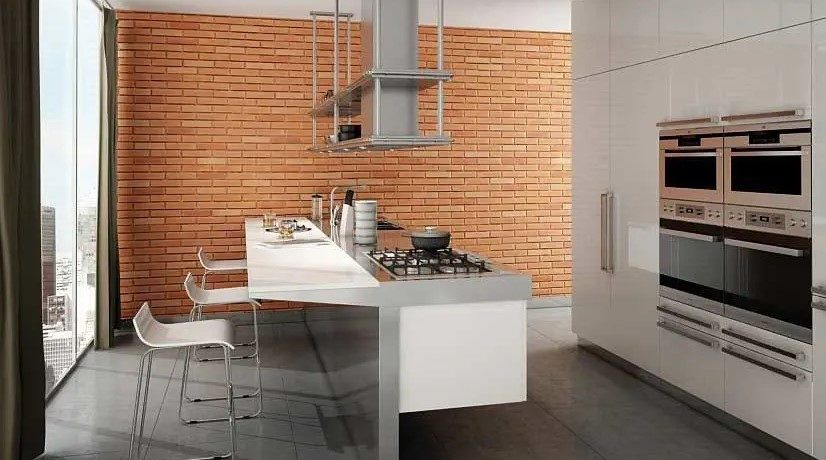 MSD Panels cocina ladrillo caravista