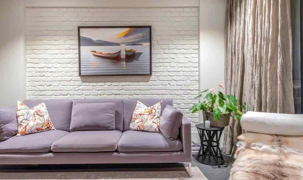 MSD Panels White loft brick apartment