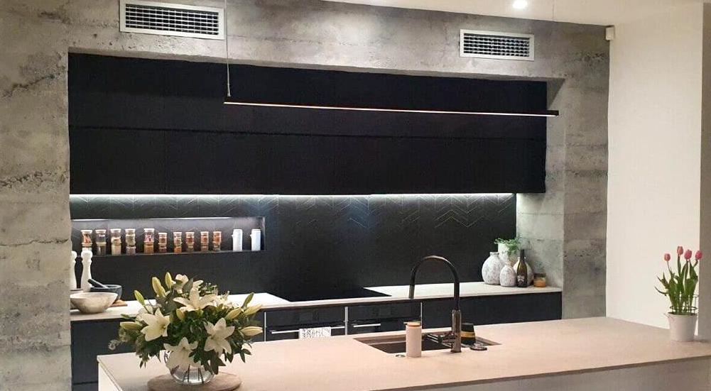 MSD Hormigón gris cocina