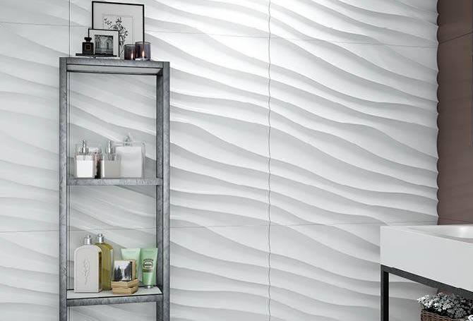 MSD 3D Wall Paneles baño blanco